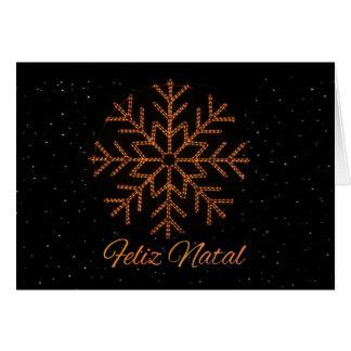 Feliz Natal   Crystal Lights Note Card