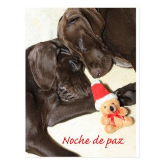 Feliz Natal  German Pointer Sisters Postcard