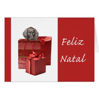 Feliz Natal german shorthaired pointer Chistmas Cards