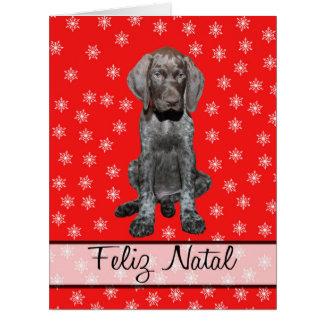 Feliz Natal german shorthaired pointer Chistmas Big Greeting Card