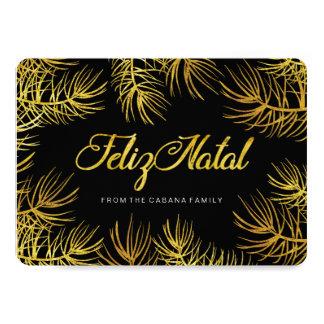 "Feliz Natal Greeting Card 5"" X 7"" Invitation Card"