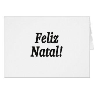 Feliz Natal! Merry Christmas in Portuguese bf Card