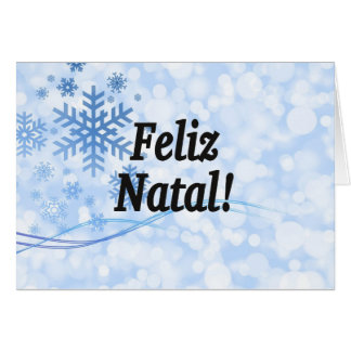 Feliz Natal! Merry Christmas in Portuguese bf Greeting Cards