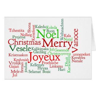 Feliz Natal! Merry Christmas in Portuguese bf Greeting Card