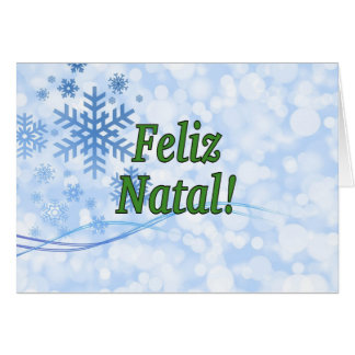 Feliz Natal! Merry Christmas in Portuguese gf Cards