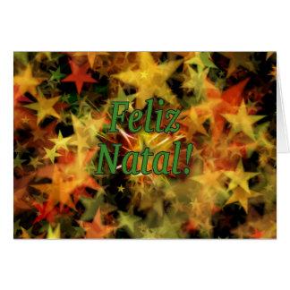 Feliz Natal! Merry Christmas in Portuguese gf Card