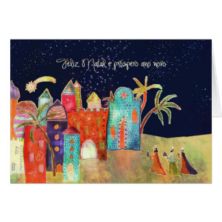 Feliz Natal, Merry Christmas in Portuguese Greeting Card
