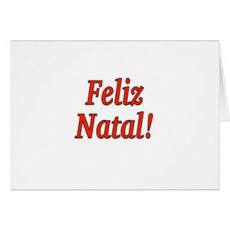 Feliz Natal! Merry Christmas in Portuguese rf Card