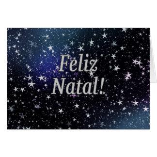 Feliz Natal! Merry Christmas in Portuguese wf Card