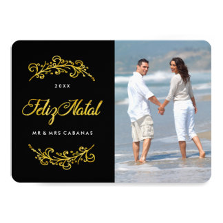 "Feliz Natal Photo Cards 5"" X 7"" Invitation Card"