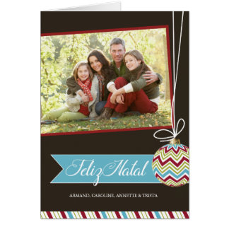 Feliz Natal Photo Greeting Card