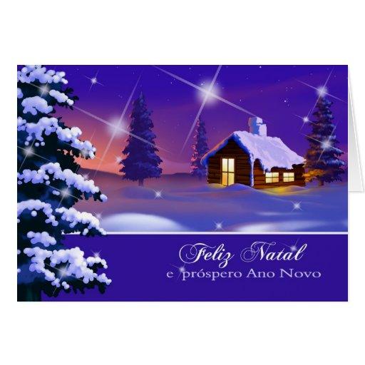 Feliz Natal. Portuguese Christmas Card