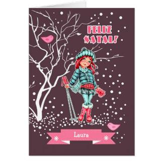 Feliz Natal. Portuguese Christmas Greeting Cards