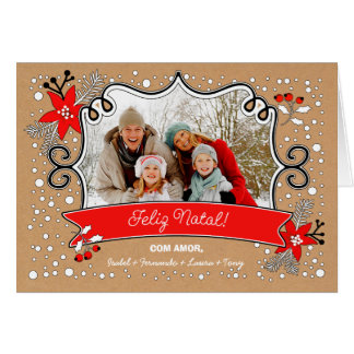 Feliz Natal. Portuguese Christmas Photo Cards