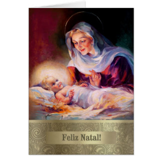 Feliz Natal. Portuguese Fine Art Christmas Card