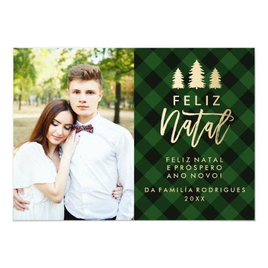 Feliz Natal Verde Da Manta | Cartão De Natal Card