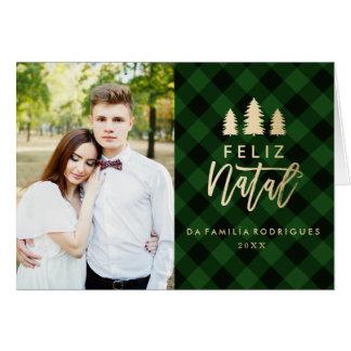 Feliz Natal Verde Da Manta   Cartão De Natal Card