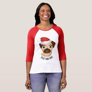 Feliz Navi-dog Christmas Pug Shirt