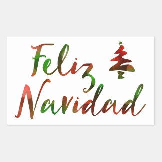 Feliz Navidad (bokeh tree lights) Sticker