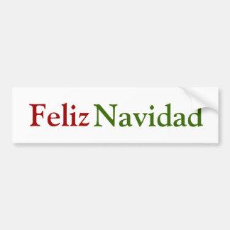 Feliz Navidad Bumper Sticker