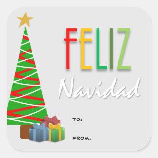 Feliz Navidad Christmas Gift Stickers
