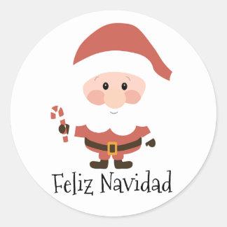 Feliz Navidad Classic Round Sticker