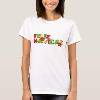 Feliz Navidad colorful Christmas T-Shirt