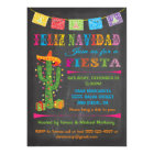 Feliz navidad Fiesta Cactus on Chalkboard Card