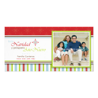 Feliz Navidad (Flor) Card