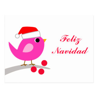 Feliz Navidad Holiday Bird Postcard