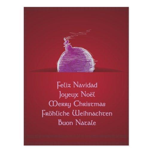 Feliz Navidad Joyeux Noël Merry Christmas Postcards