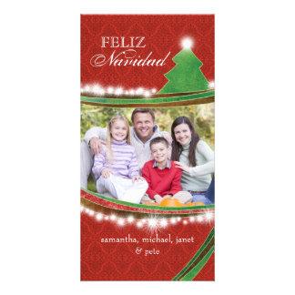 Feliz Navidad Joyous Christmas Family Photo Card