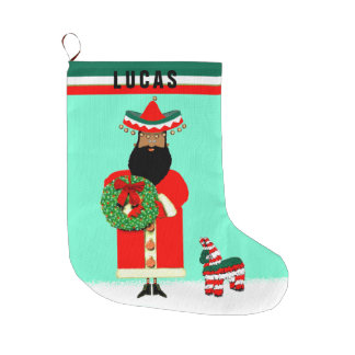 feliz Navidad Large Christmas Stocking