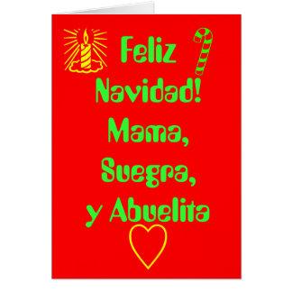 Feliz Navidad! Mama,Suegra,y Abuelita Card