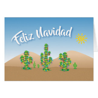 Feliz Navidad Merry Christmas Desert Holiday Card