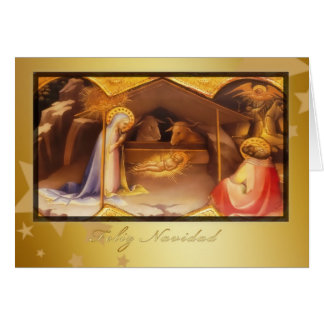Feliz Navidad, Merry christmas in Spanish Card