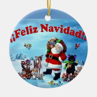 Feliz Navidad Ornament