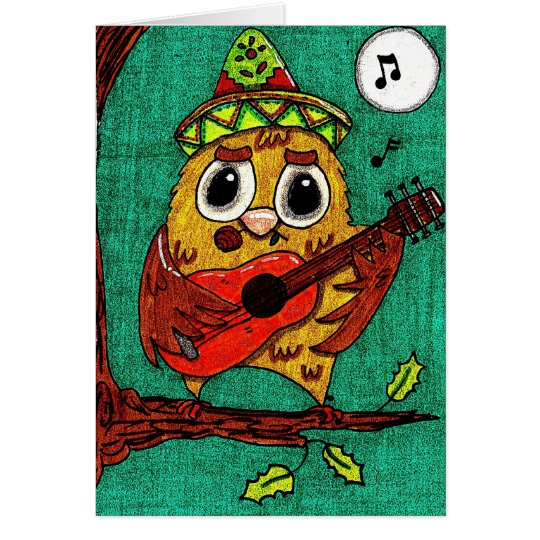 Feliz Navidad Owl Card