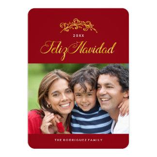 "Feliz Navidad Photo Cards 4.5"" X 6.25"" Invitation Card"