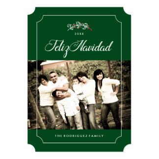 "Feliz Navidad Photo Cards 5"" X 7"" Invitation Card"