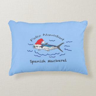 Feliz Navidad Spanish Mackerel Decorative Pillow