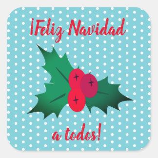 """Feliz Navidad"" Spanish Merry Christmas Sticker"