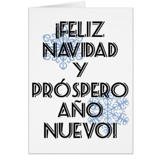 Feliz Navidad Y Prospero Ano Nuevo Tarjeta Blank Card