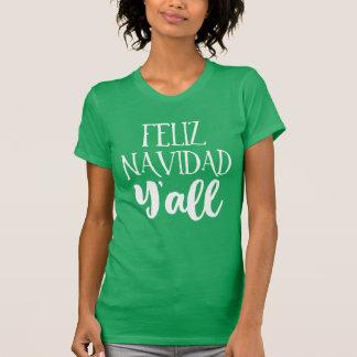 Feliz Navidad Y'all Christmas T-Shirt