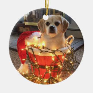 Feliz navidog! ceramic ornament