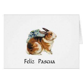 Feliz Pascua  , Happy Easter  in spanish Card