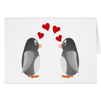 fell in love penguins penguins love card