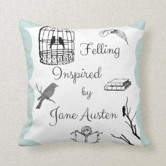 Felling Inspired by Jane Austen Throw Pillow