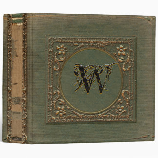 Fellowsbey Personalized Monogram Victorian 3 Ring Binders