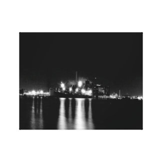 Fells Point Black and white Cityscape Canvas Print